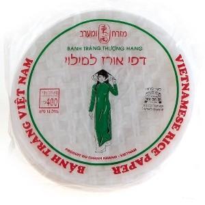 דפי אורז גדולים 22 ס״מ – 2 יח׳ ב-30 ש״ח