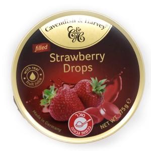 סוכריות בטעם תות שדה – קופסת פח 200 גרם
