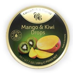 סוכריות בטעם מנגו קיווי – קופסת פח 200 גרם