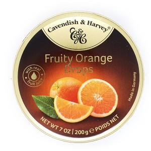 סוכריות בטעם תפוז – קופסת פח 200 גרם