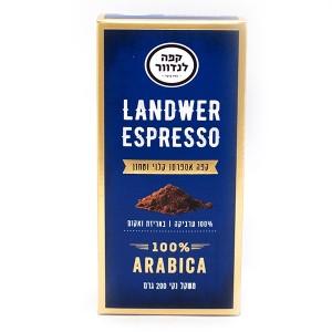 קפה אספרסו קלוי טחון לנדוור – 200 גרם