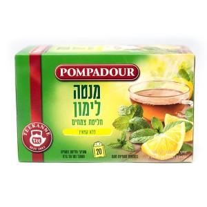חליטת צמחים ללא קפאין – מנטה לימון Pompadour