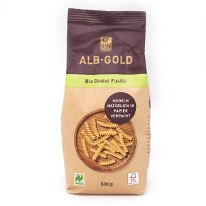 פסטה כוסמין אורגנית (פוזילי) – 500 גרם ALB-Gold