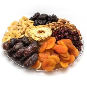 מגש פירות יבשים ואגוזים בינוני 20-25 איש