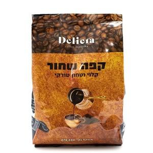 קפה שחור טחון 200 גרם – Delicia