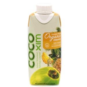 משקה קוקוס אורגניים עם מיץ אננס