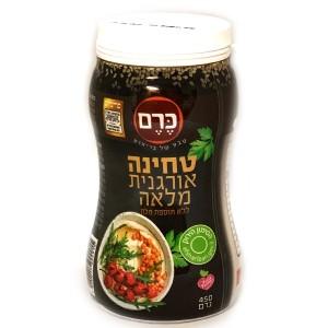 טחינה אורגנית מלאה ללא תוספת מלח 450 גרם – הכרם – 2 יח׳ ב- 25 ש״ח