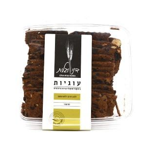 ביסקוטי שוקולד ופירות מיובשים (טבעוני) – דני וגלית 2 ב-50 ש״ח