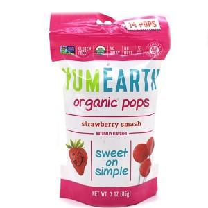 סוכריות אורגניות קשות על מקל – בטעם תות שדה