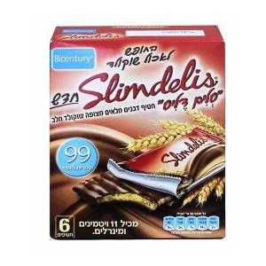חטיף דגנים מלאים בציפוי שוקולד חלב – סלים דליס