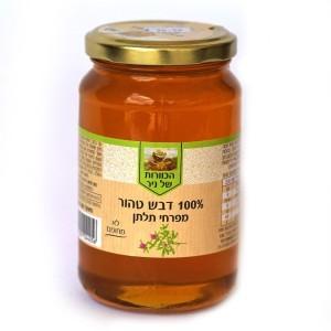 דבש טהור מפרחי תלתן 500 גרם – הכוורת של ניר