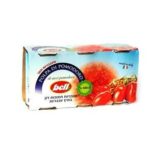 עגבניות תמר חתוכות דק במיץ עגבניות