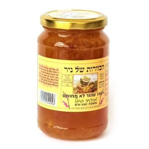 דבש טהור מפרחי שיזף 500 גרם – הכוורת של ניר